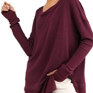 NWT Free People North Shore Thermal Knit Tunic Top